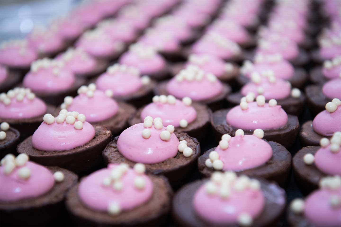 Ruby Chocolate Cupcakes